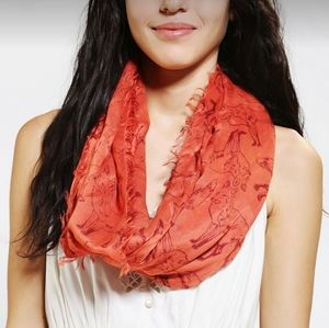 Urban Outfitters Cooperative Fox Print Scarf Wrap
